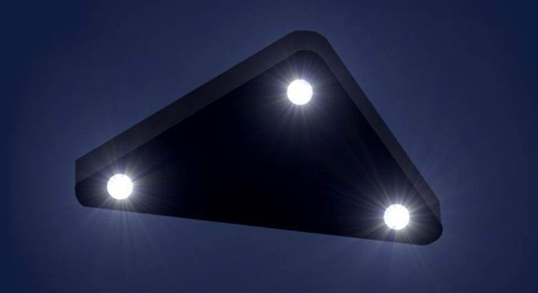 Huge triangular UFO flying in the night sky over New Jersey US