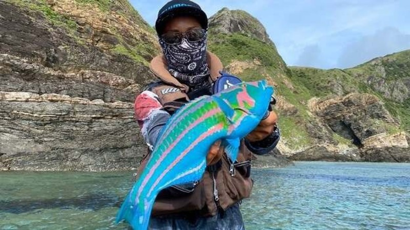 Man caught a fish that resembles an avatar from a James Cameron movie