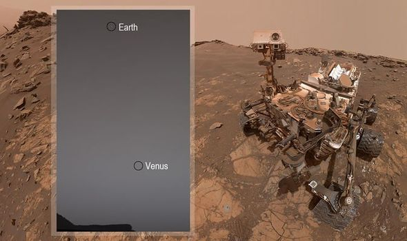 Martian robot photographed Venus and Earth