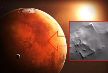 NASA probe captured on Mars the ruins of a huge structure