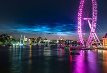 Noctilucent clouds appeared in the sky above London