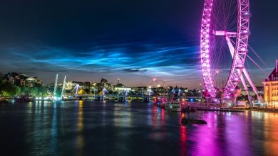 Photo of Noctilucent clouds appeared in the sky above London