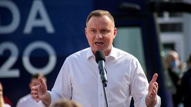 Polish leader trying to give a new impetus to his campaign criticized gays and called them enemies