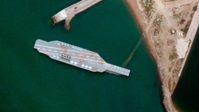 Something reminiscent of an aircraft carrier was discovered off the coast of Iran