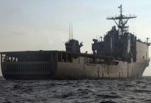 US landing ship enters the Black Sea