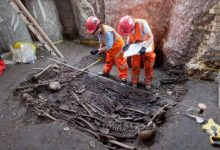 What are the excavations of ancient giant people