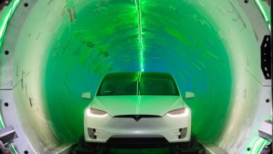 Elon Musk showed a sketch of an underground tunnel under Las Vegas