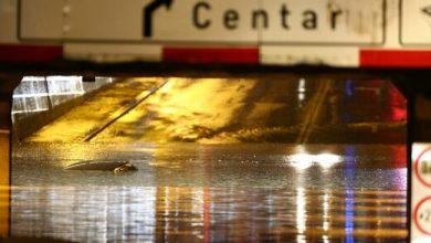 Heavy rain triggers flooding in Zagreb Croatia