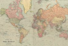 Many states no longer exist the World Map of 1922 hit the Net