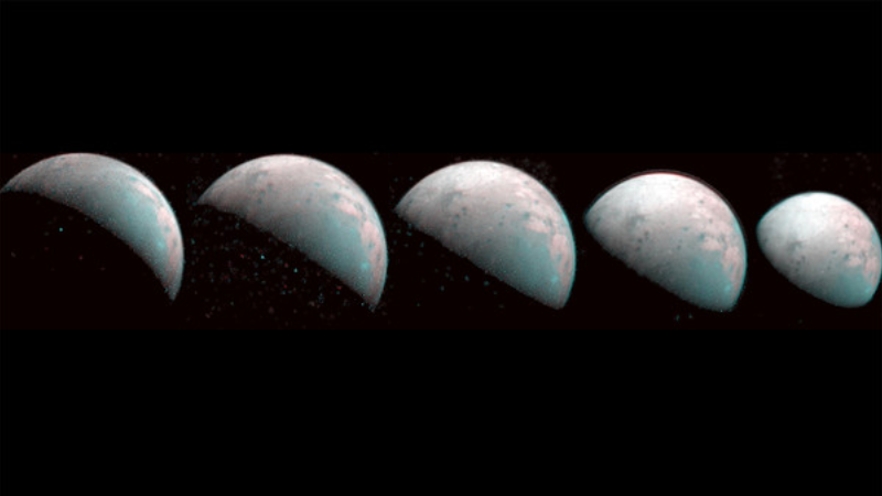 NASAs spacecraft took a photo of the largest moon in the solar system