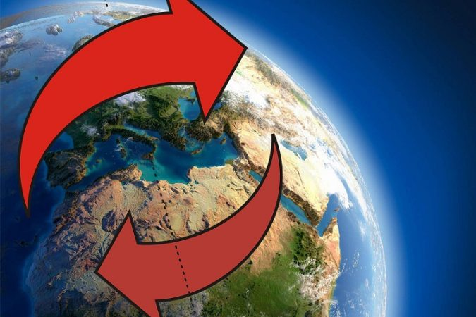 Record shifts in the Earths magnetic field