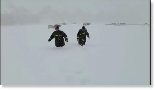 Summer snowstorm hit Xinjiang China