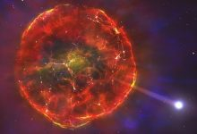 Surviving supernova explodes across the galaxy