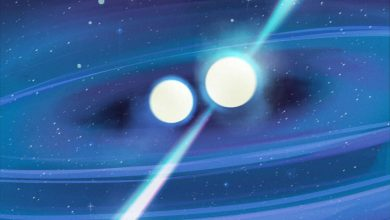 Two merging neutron stars of different masses will help reveal the secrets of the universe