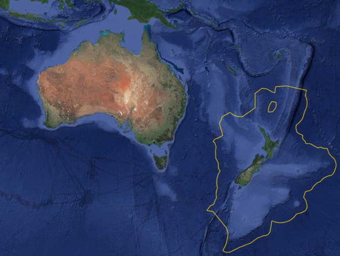 What the sunken continent of the Earth looked like