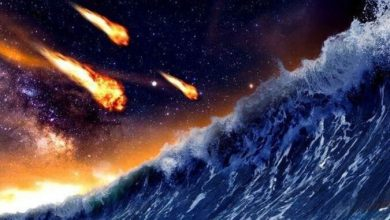 3 5 billion years ago a meteorite fell on Mars causing a powerful tsunami
