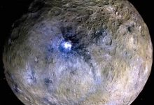 Abnormally bright spots on Ceres indicate a hidden ocean