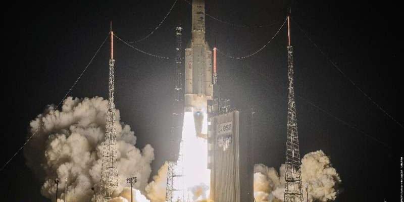 Ariane rocket put telecommunications satellites into orbit