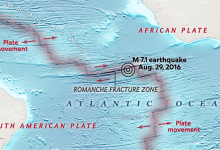 Boomerang earthquake recorded at the bottom of the Atlantic Ocean