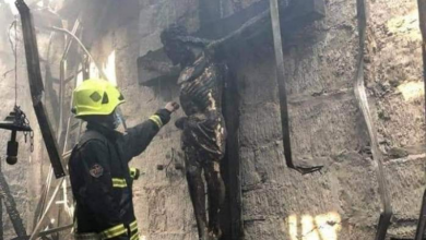 Church burned down in Philippines but wood crucifix remained intact