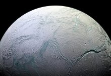 Enceladus is an ice covered moon