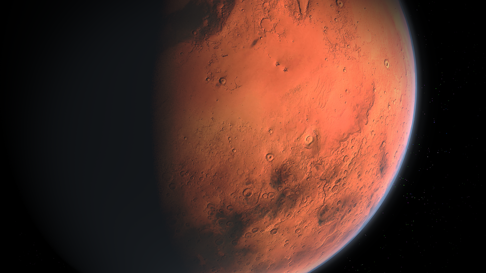 Water on Mars a network of underground lakes found under the planets surface