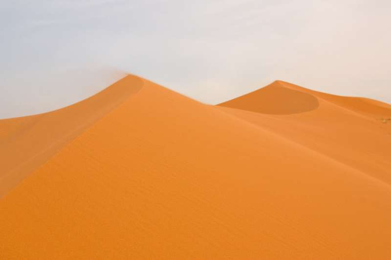 Where does sand come from in deserts