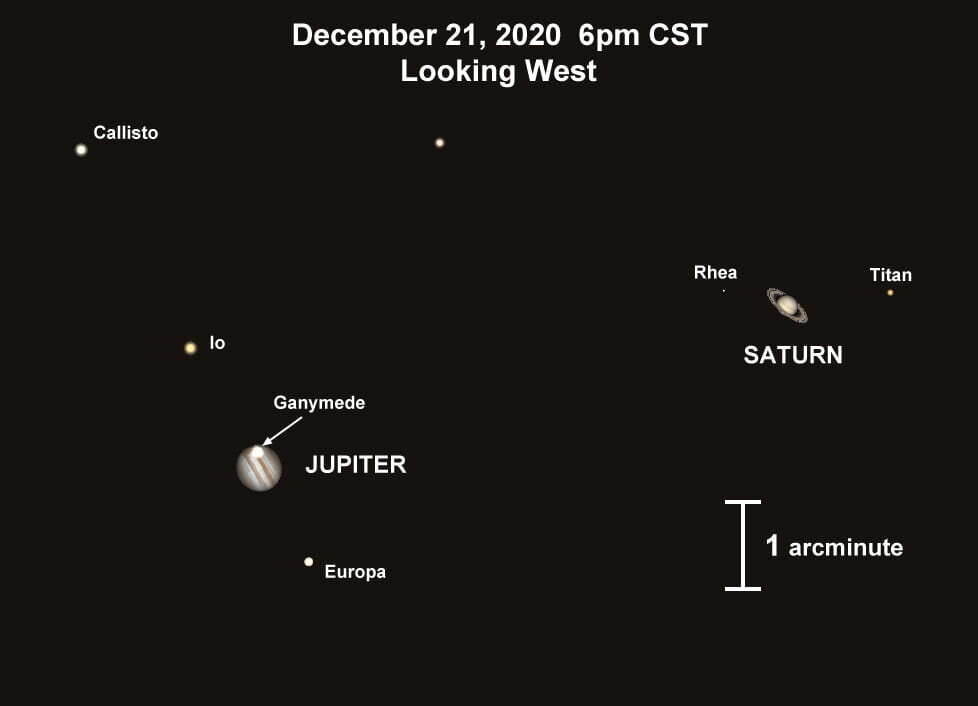 In December Jupiter and Saturn will merge into a single planet in the night sky