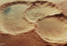 Mars discovered a crater on a crater that is on another crater