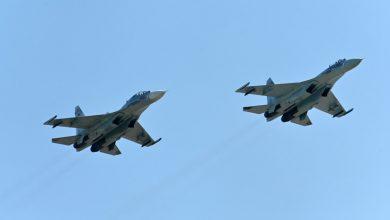 No border violations allowed Russian Su 27 escorted a US plane over the Black Sea