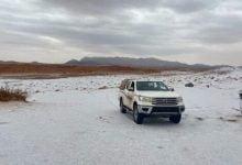 Saudi Arabia was bombarded with hail