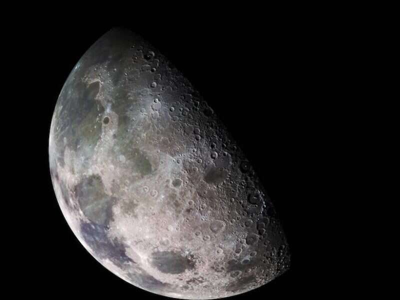 The moon can hold billions of tons of ice at its poles