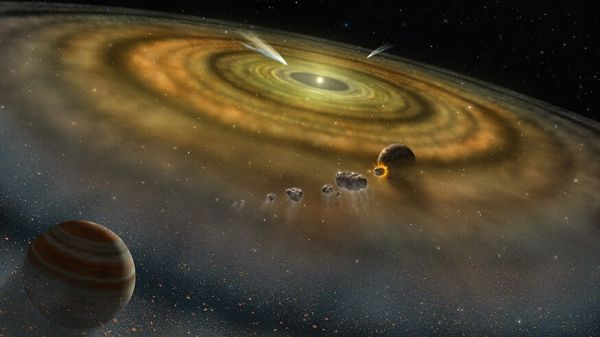The solar system formed in less than 200 000 years