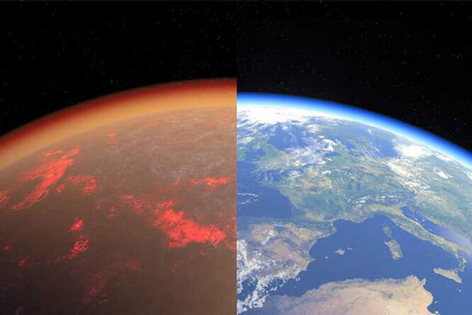 4 5 billion years ago Earth and Venus had similar atmospheres