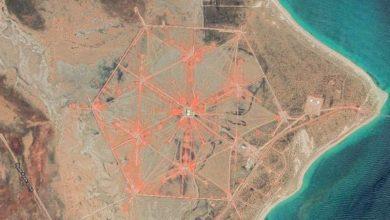 A giant hexagonal object found on the coast of Australia