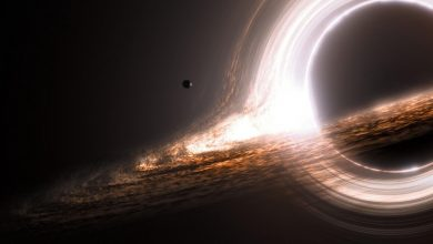 A huge black hole collided with an unknown object