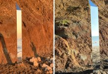 A mysterious new monolith appears on the British Isle of Wight