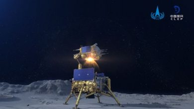 Chinese vehicle Change 5 launched from the surface of the Moon
