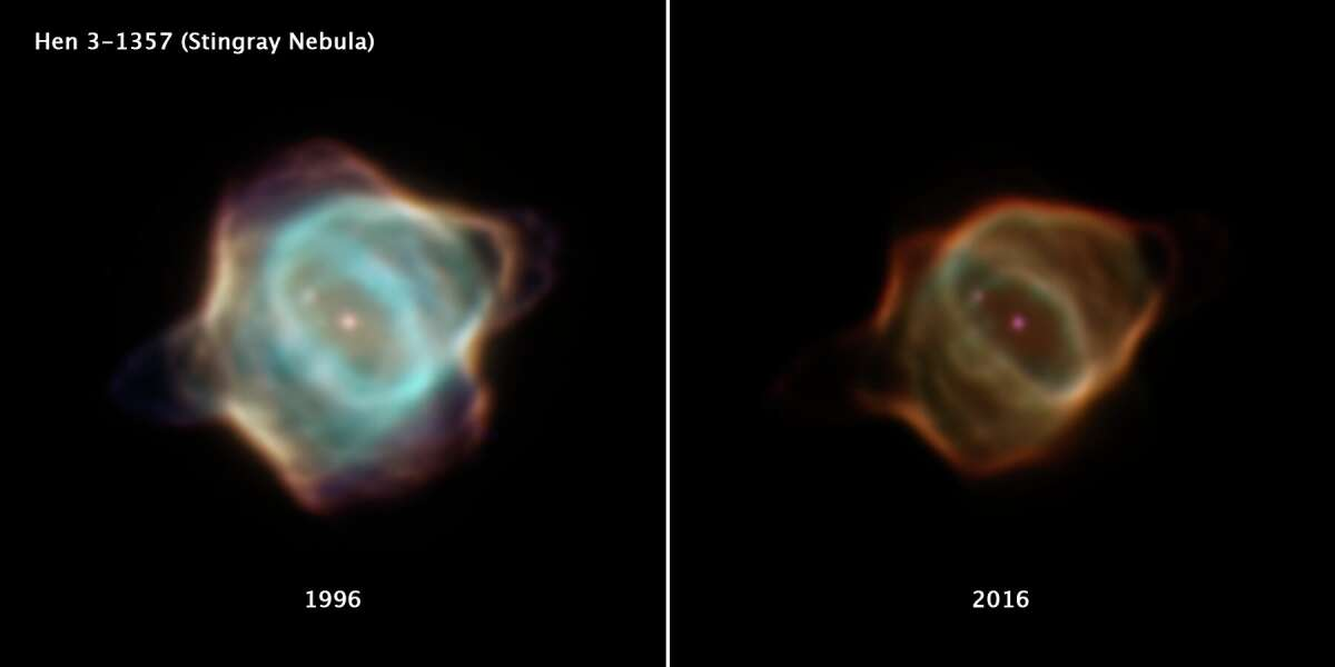 Hubble captures the unprecedented decline of the Stingray Nebula