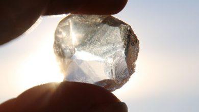 Rare diamond with alien ice inside