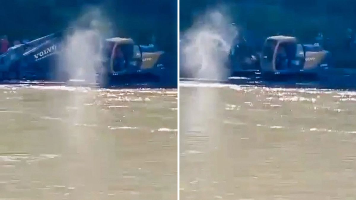 The ghost of the deceased guy walked on the water an eyewitness filmed him