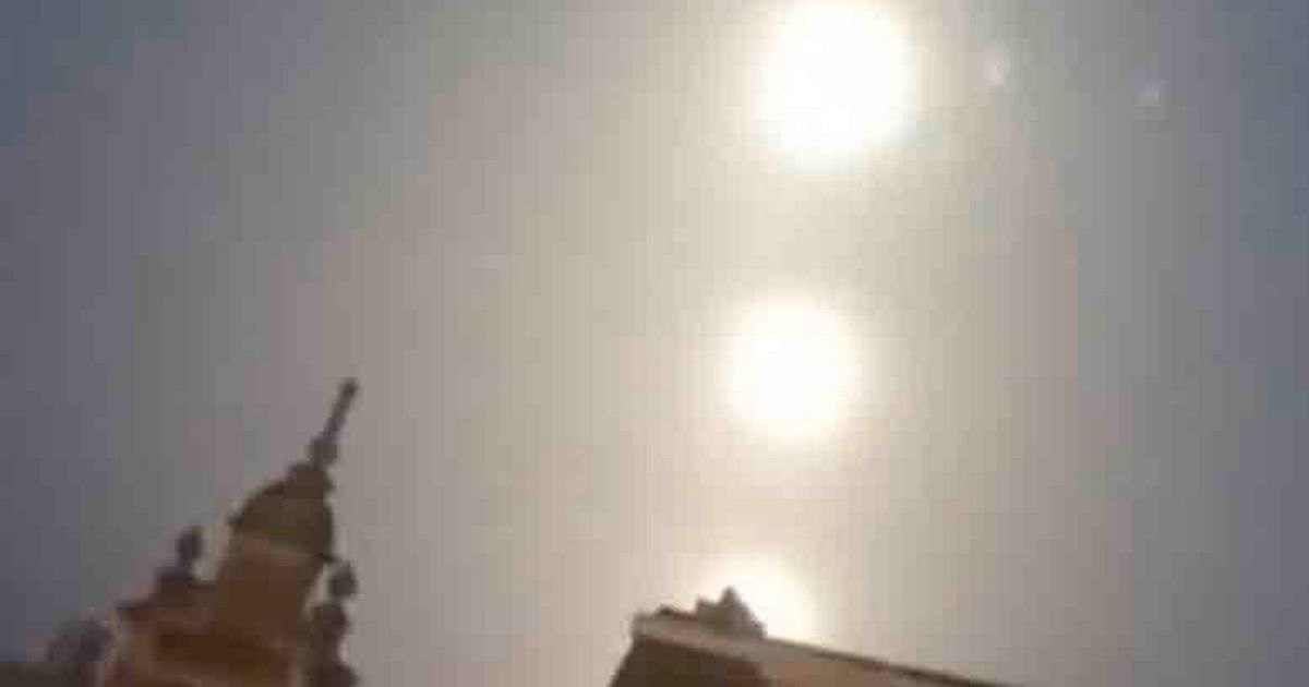 Three giant moons were spotted in the sky over the Belgian city