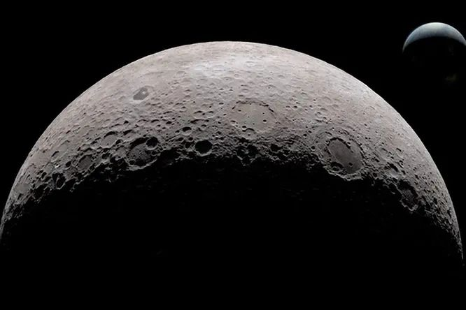 Whats hiding on the dark side of the moon