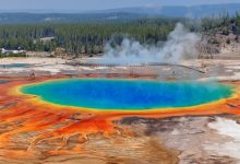large scale series of earthquakes began in Yellowstone at the fault