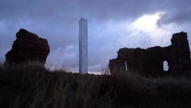 new mystical monolith discovered in the ruins of a Spanish church
