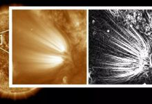 Astronomers have discovered feathers in the suns crown