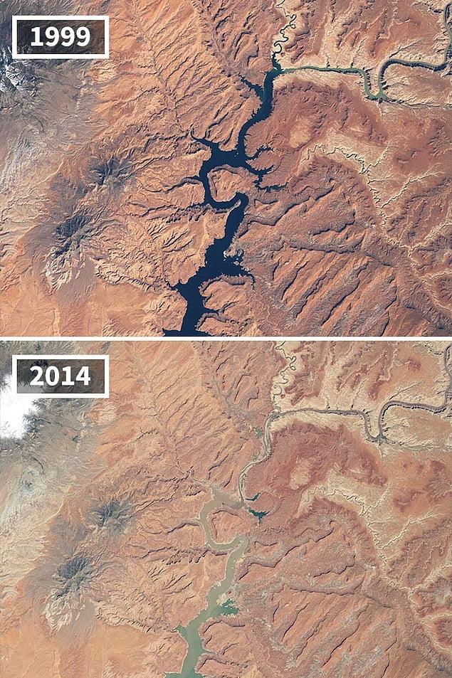 Drought in Lake Powell Arizona and Utah