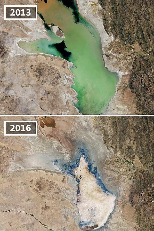 Drying Lake Poopo Bolivia