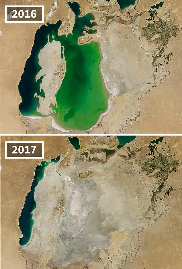 Drying of the Aral Sea Central Asia
