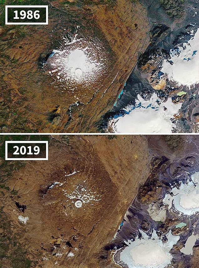 Icelandic glacier Ok melts